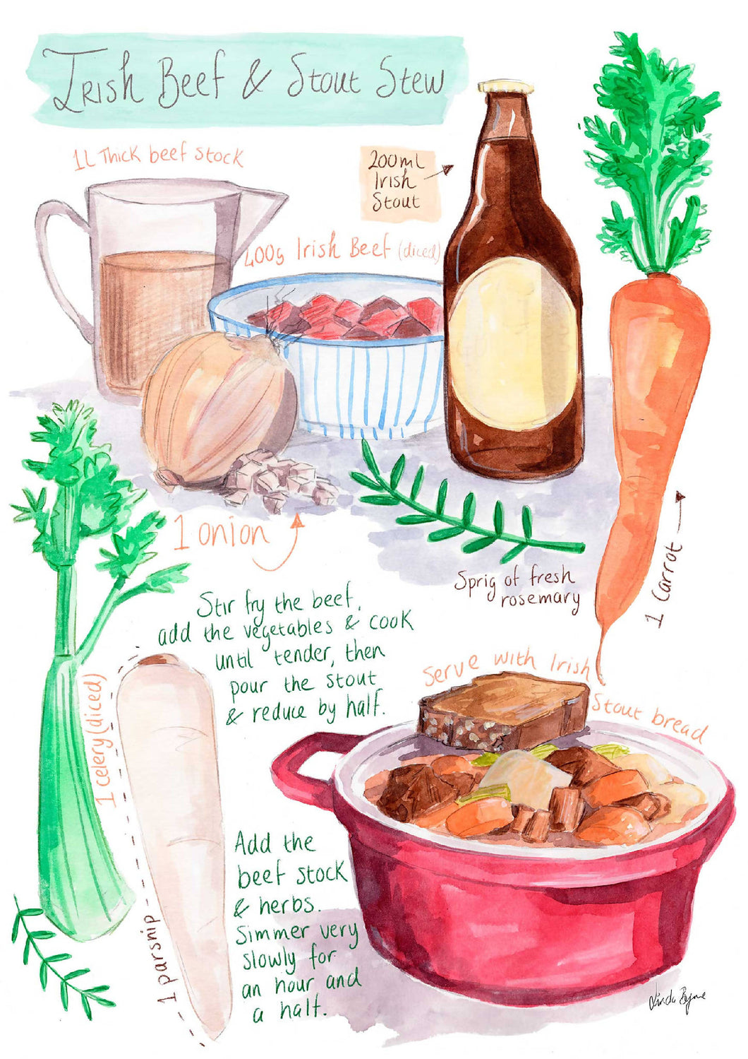 Irish Stout Stew Recipe Print