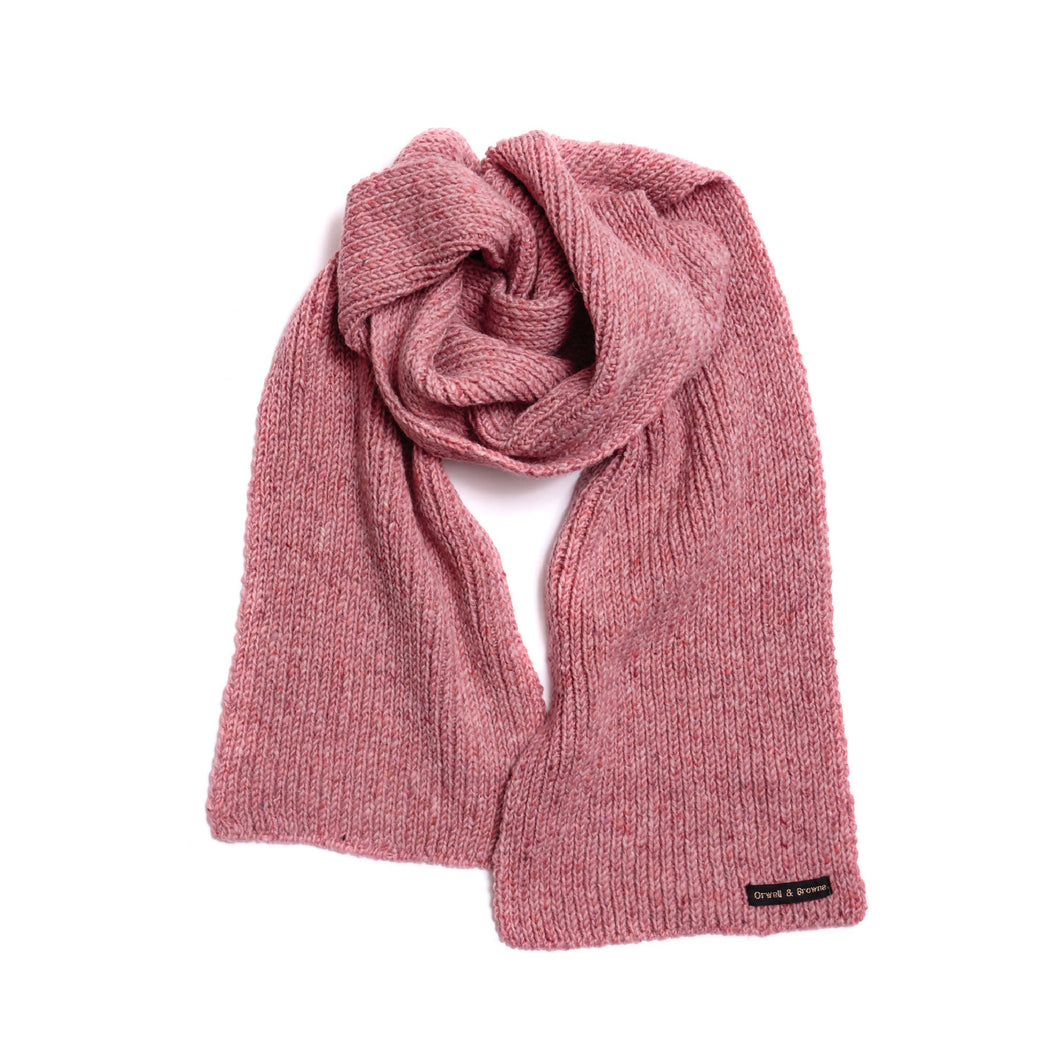 Blush - Merino Wool Knit Scarf