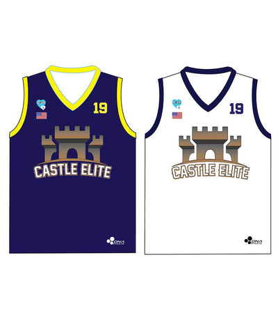 "CASTLE TRIBUTE SET 3 ""REVERSIBLE"" BASKETBALL PINNIE JERSEY"