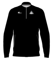 CASTLE 1/4 TRACK JACKET PULLOVER (BLACK)