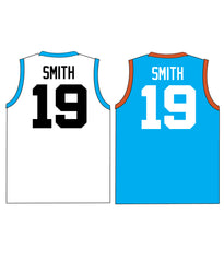 "CASTLE TRIBUTE SET 1 ""REVERSIBLE"" BASKETBALL PINNIE JERSEY"