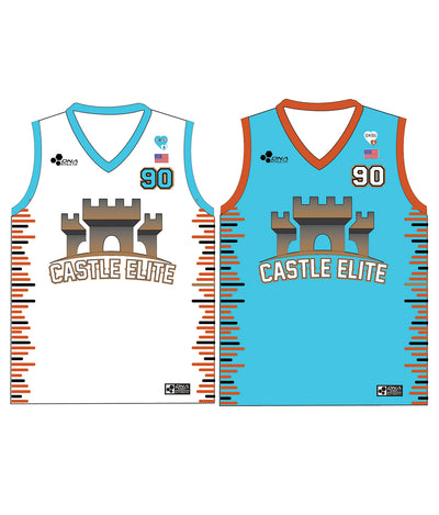 "CASTLE TRIBUTE SET 1 ""REVERSIBLE"" BASKETBALL JERSEY"