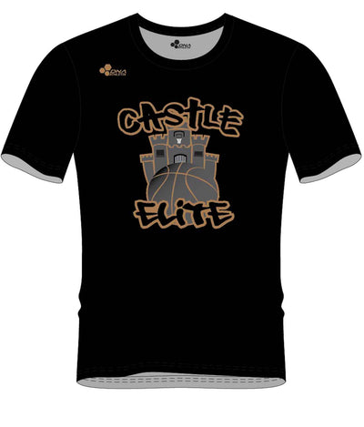 CASTLE PERFORMANCE TEE (BLACK/GOLD)
