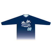 SEÑOR GRUBBY'S LONG SLEEVE TEE (NAVY/WHITE GRADIENT CYAN HIGHLIGHT)
