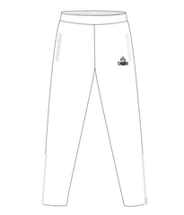CASTLE TRACK PANTS WITH ZIPPER (WHITE)
