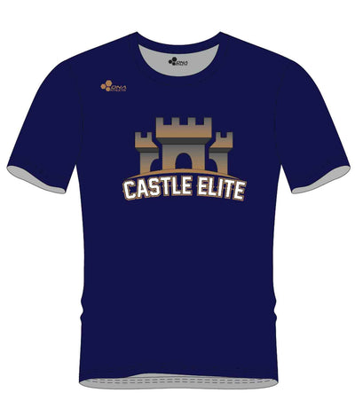 CASTLE PERFORMANCE TEE (NAVY/GOLD)