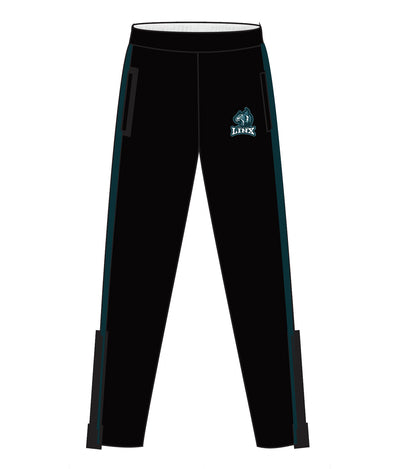 LINX TRACK PANTS WITH ZIPPER (BLACK)