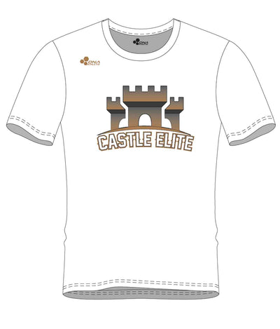 CASTLE PERFORMANCE TEE (WHITE/GOLD)