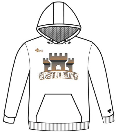 CASTLE PERFORMANCE HOODIE (WHITE/GOLD)