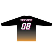 SEÑOR GRUBBY'S LONG SLEEVE TEE (BLACK/ORANGE GRADIENT MAGENTA HIGHLIGHT)