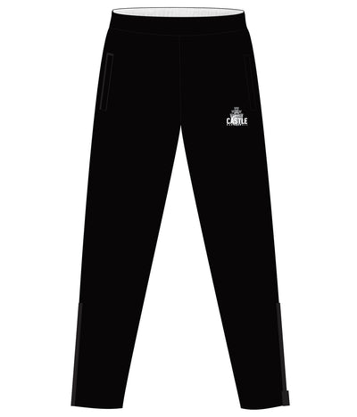 CASTLE TRACK PANTS WITH ZIPPER (BLACK)