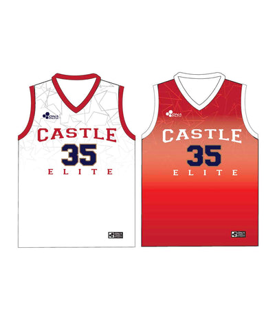 "CASTLE TRIBUTE SET 4 ""REVERSIBLE"" BASKETBALL PINNIE JERSEY"