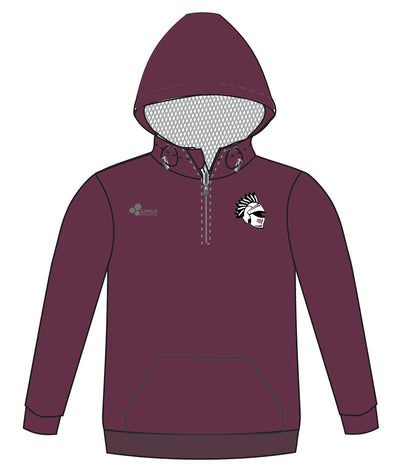 CURTIS WARRIOR 1/4 ZIP PERFORMANCE HOODIE (BURGUNDY)