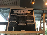 Menu Board at King Barbecue, Avalon in Alpharetta, GA