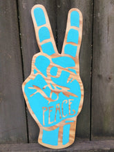 Load image into Gallery viewer, Peace Sign Hand Painted Sign Language Wall Art