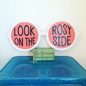 Rose Colored Glasses Feminist Wall Art