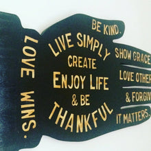 Load image into Gallery viewer, Live Simply Hand Painted Wood Sign