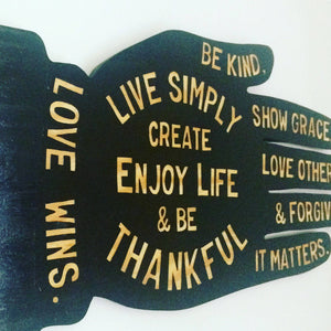Live Simply Hand Painted Wood Sign