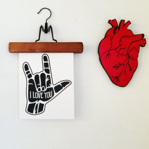 I Love You ASL Hand Art Print