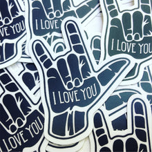 Load image into Gallery viewer, I Love You ASL Sign Language Vinyl Sticker
