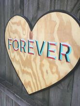 Load image into Gallery viewer, Forever Heart Hand Painted Wood Sign