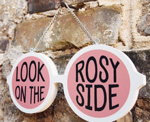 Load image into Gallery viewer, Rose Colored Sunglasses Feminist Wood Sign