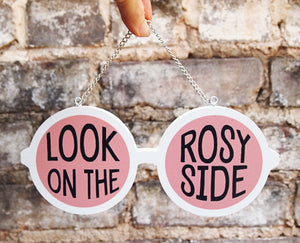 Rose Colored Sunglasses Feminist Wood Sign