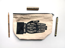 Load image into Gallery viewer, Live Simply Zippered Makeup Toiletry Bag