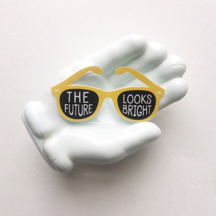 The Future Looks Bright Sunglasses Sticker