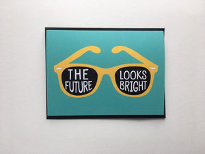 The Future Looks Bright Summer Sunglasses Blank Note Card