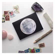 Load image into Gallery viewer, More Wonder Less Worry Moon Note Card