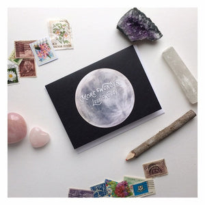 More Wonder Less Worry Moon Note Card