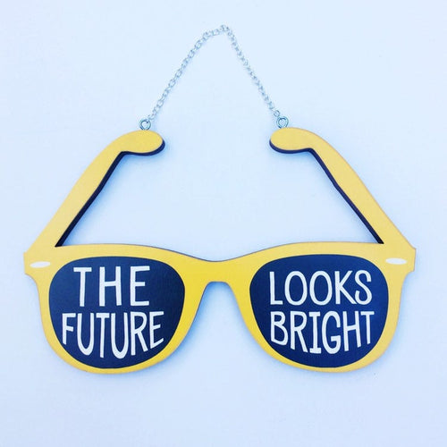 The Future Looks Bright Sunglasses Hanging Wall Art
