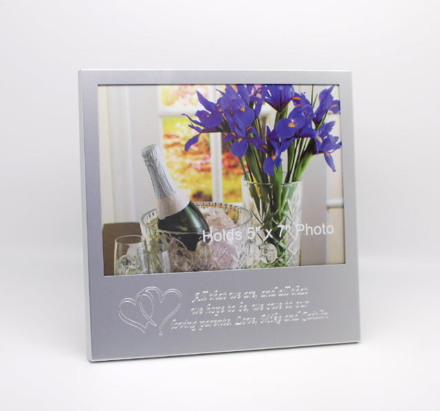 Personalized picture frame 5x7 Photo frame with text and Logo Engraving - 5x7 picture frame