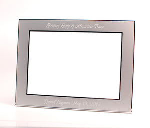 Personalized 5x7 picture frame  Engraved with 2 lines of text