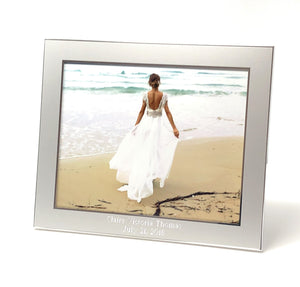 Personalized photo frame 8x10 - Engraved photo frame - Wedding photo frame