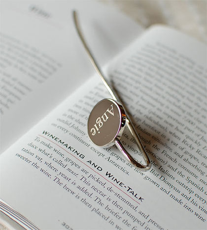 Personalized bookmark - Engraved bookmark - Silver bookmark - Party favors