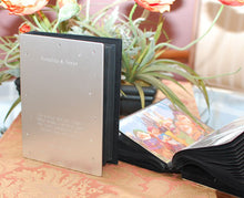 Personalized photo album Engraved with quote and logo