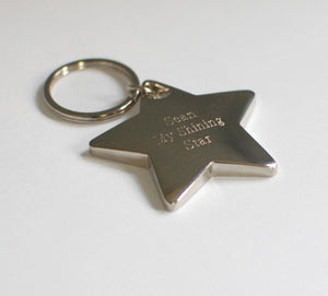Personalized key chain - Engraved key chain - Star key chain