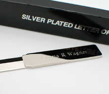Personalized letter opener Solid Metal Engraved with name or text
