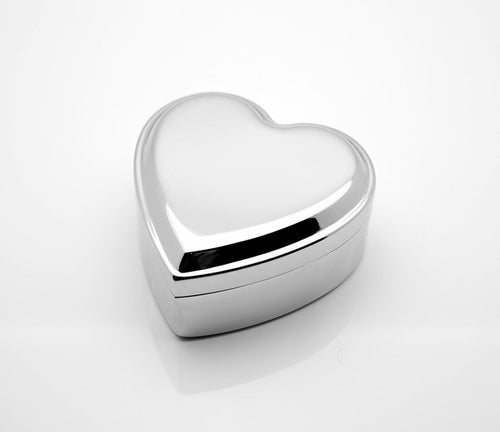Personalized Modern Heart Jewelry box with engraving