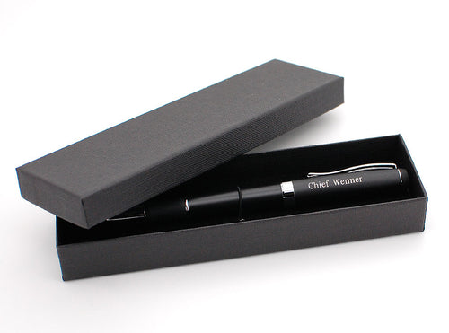 Personalized black chrome Ballpoint Pen Engraved with Name
