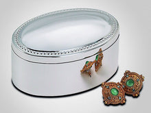 Personalized oval jewelry box - Engraved with name - Modern design