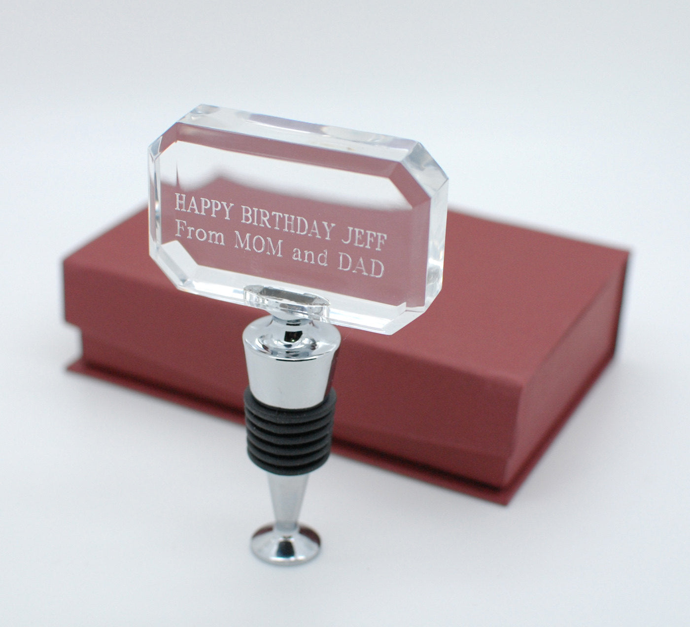 Personalized Wine Stopper Engraved for wedding favors, anniversary, groomsmen gift