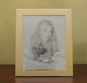 Personalized Golden Photo Frame 8x10 - Engraved with 2 lines of text