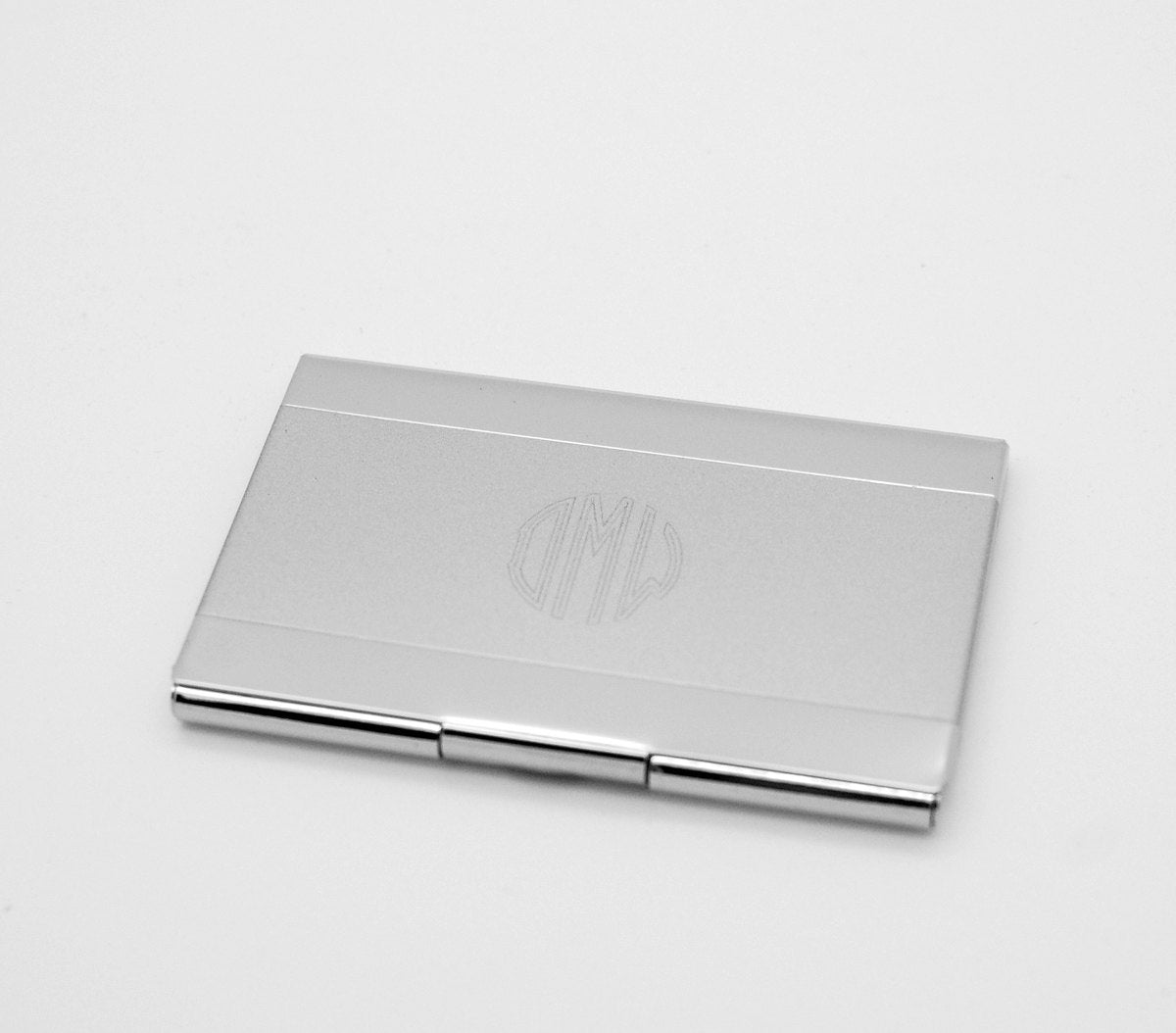 personalized business card case engraved card holder with shiny surface executive gift - Personalized Business Card Case