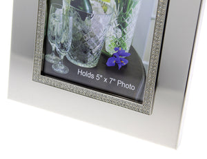 Personalized photo frame - Picture frame 5x7 - Wedding photo frame - Bling photo frame