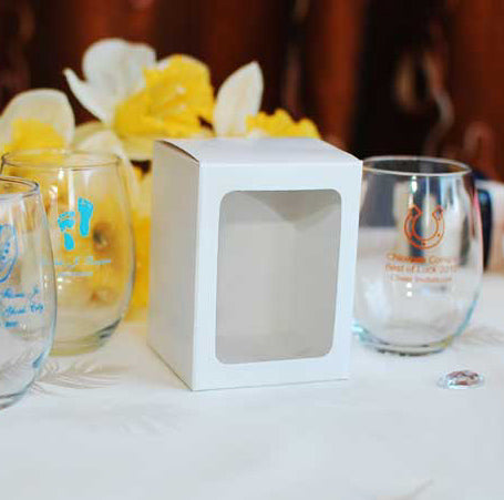 White Box for 9 oz. personalized stemless wine glass