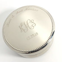 Personalized Jewelry Box with Monogram - Engraved with Name and Date