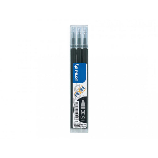 PILOT Set Da 3 Refill 0,7mm Per Penne Cancellabili Frixion Ball Nero - 006656